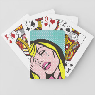 Cry Me a River Pop Art Playing Cards