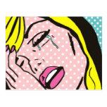 Cry Me a River Pop Art Postcard