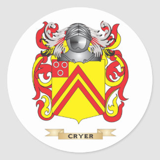 Cryer 2 Coat of Arms Round Sticker