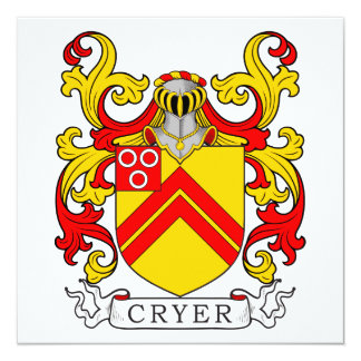 Cryer Coat of Arms 13 Cm X 13 Cm Square Invitation Card