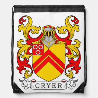 Cryer Coat of Arms Drawstring Backpacks