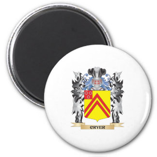 Cryer Coat of Arms - Family Crest 6 Cm Round Magnet