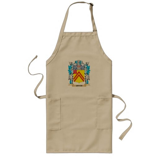 Cryer- Coat of Arms - Family Crest Aprons