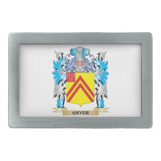 Cryer- Coat of Arms - Family Crest Rectangular Belt Buckle