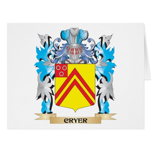Cryer- Coat of Arms - Family Crest Cards