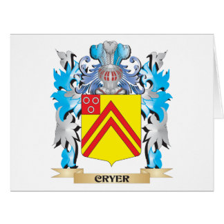 Cryer- Coat of Arms - Family Crest Greeting Card