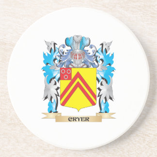 Cryer- Coat of Arms - Family Crest Drink Coaster