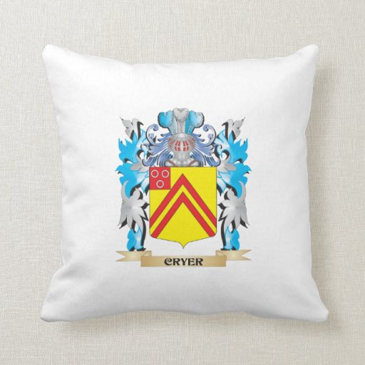 Cryer- Coat of Arms - Family Crest Throw Pillows