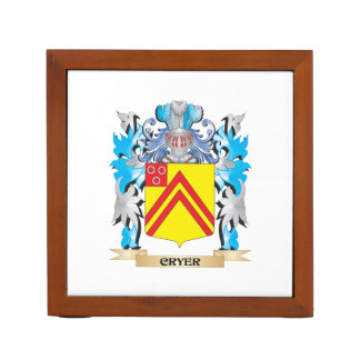 Cryer- Coat of Arms - Family Crest Desk Organizers