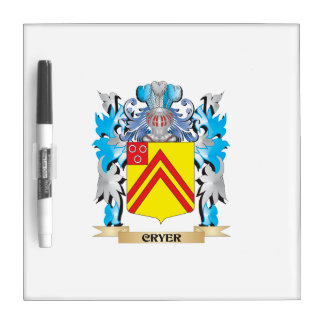 Cryer- Coat of Arms - Family Crest Dry Erase Board
