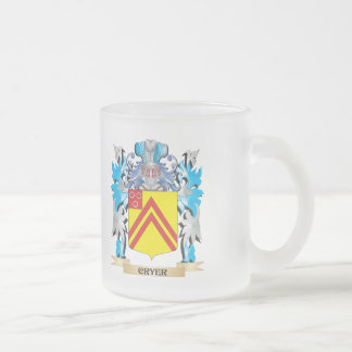 Cryer- Coat of Arms - Family Crest Frosted Glass Mug