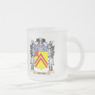 Cryer Coat of Arms - Family Crest Frosted Glass Mug