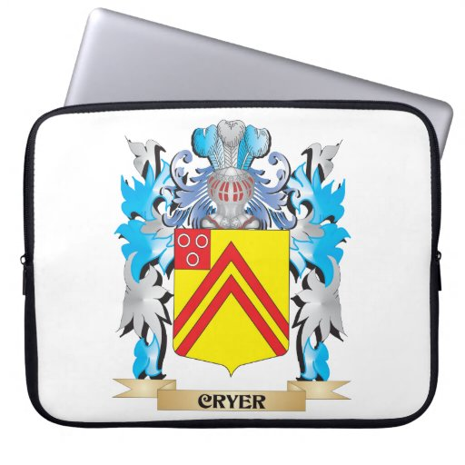 Cryer- Coat of Arms - Family Crest Computer Sleeves