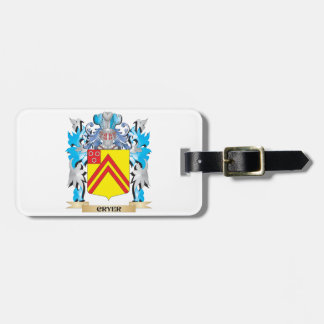 Cryer- Coat of Arms - Family Crest Bag Tag