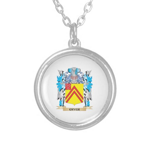 Cryer- Coat of Arms - Family Crest Necklace