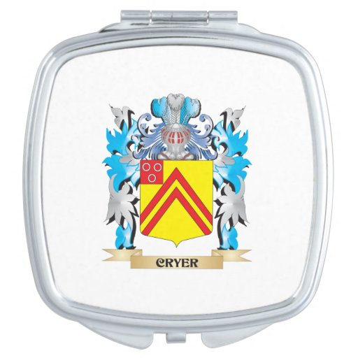 Cryer- Coat of Arms - Family Crest Travel Mirror
