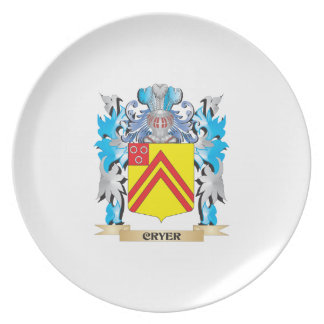 Cryer- Coat of Arms - Family Crest Dinner Plates