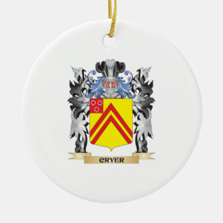 Cryer Coat of Arms - Family Crest Round Ceramic Decoration