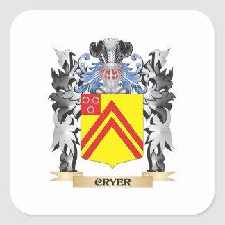 Cryer Coat of Arms - Family Crest Square Sticker