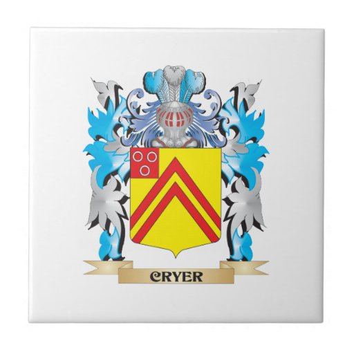 Cryer- Coat of Arms - Family Crest Ceramic Tiles