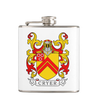 Cryer Coat of Arms Hip Flask