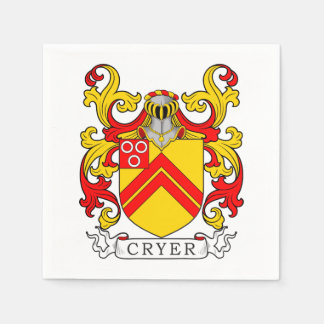 Cryer Coat of Arms Paper Napkins