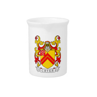 Cryer Coat of Arms Beverage Pitchers
