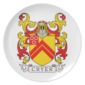 Cryer Coat of Arms Dinner Plate