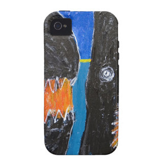 Crying and Biting (naive expressionism) iPhone 4/4S Cases