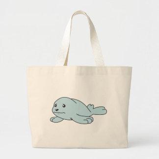 Crying Aqua Blue Sea Lion Seal Pup Mug Button Pin Canvas Bag