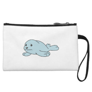 Crying Aqua Blue Sea Lion Seal Pup Mug Button Pin Wristlet