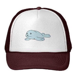 Crying Aqua Blue Sea Lion Seal Pup Mug Button Pin Trucker Hat