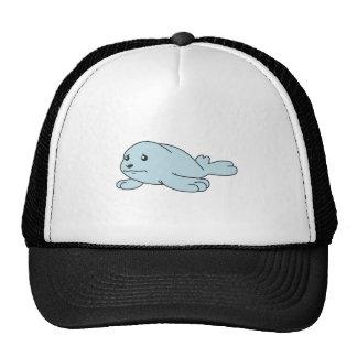 Crying Aqua Blue Sea Lion Seal Pup Mug Button Pin Trucker Hats