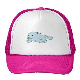 Crying Aqua Blue Sea Lion Seal Pup Mug Button Pin Hats