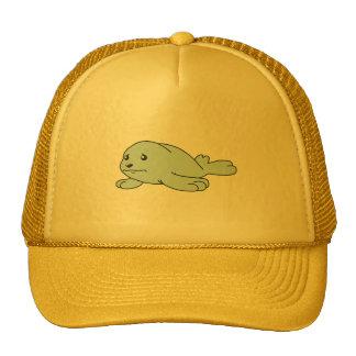 Crying Aqua Blue Sea Lion Seal Pup Mug Button Pin Mesh Hats