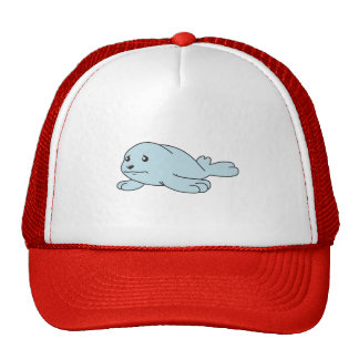 Crying Aqua Blue Sea Lion Seal Pup Mug Button Pin Hat