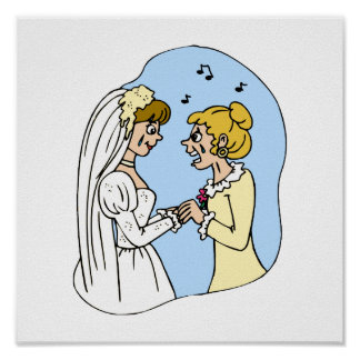 Crying Brides Exchanging Vows Poster