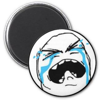 Crying Comic Meme 6 Cm Round Magnet