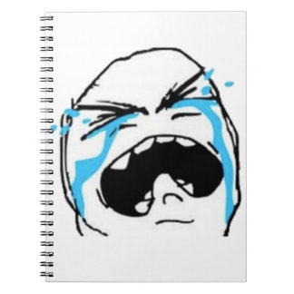 Crying Comic Meme Spiral Note Book