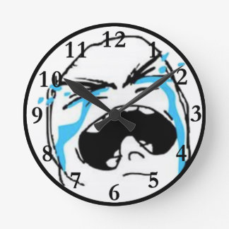 Crying Comic Meme Wallclocks