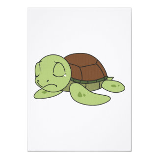 Crying Cute Baby Turtle Tortoise Invitation Stamps