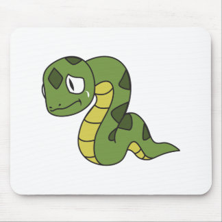 Crying Cute Green Snake Greeting Cards Mugs Pin Mouse Pads