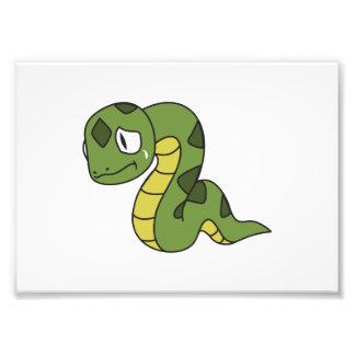 Crying Cute Green Snake Greeting Cards Mugs Pin Photo Art