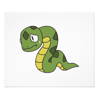 Crying Cute Green Snake Invitation Card Stamps Photographic Print