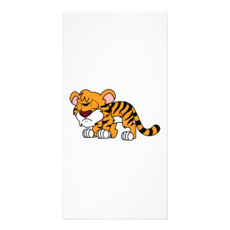 Crying Cute Orange Baby Tiger Cub Greeting Cards Picture Card