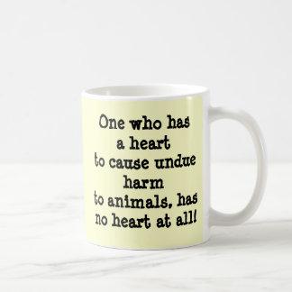 Crying dog and cat crying shame coffee mug