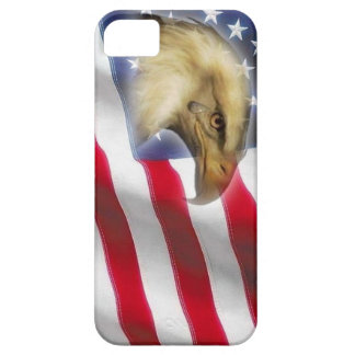 Crying Eagle & American Flag red white blue Case For The iPhone 5