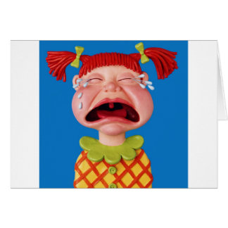 Crying Girl Greeting Card