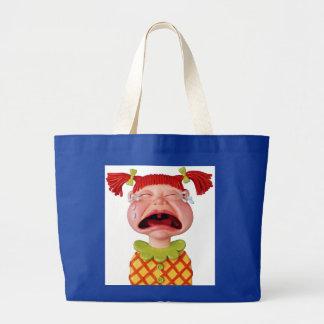Crying Girl Jumbo Tote Bag