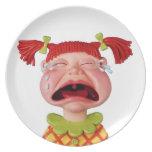 Crying Girl Plate